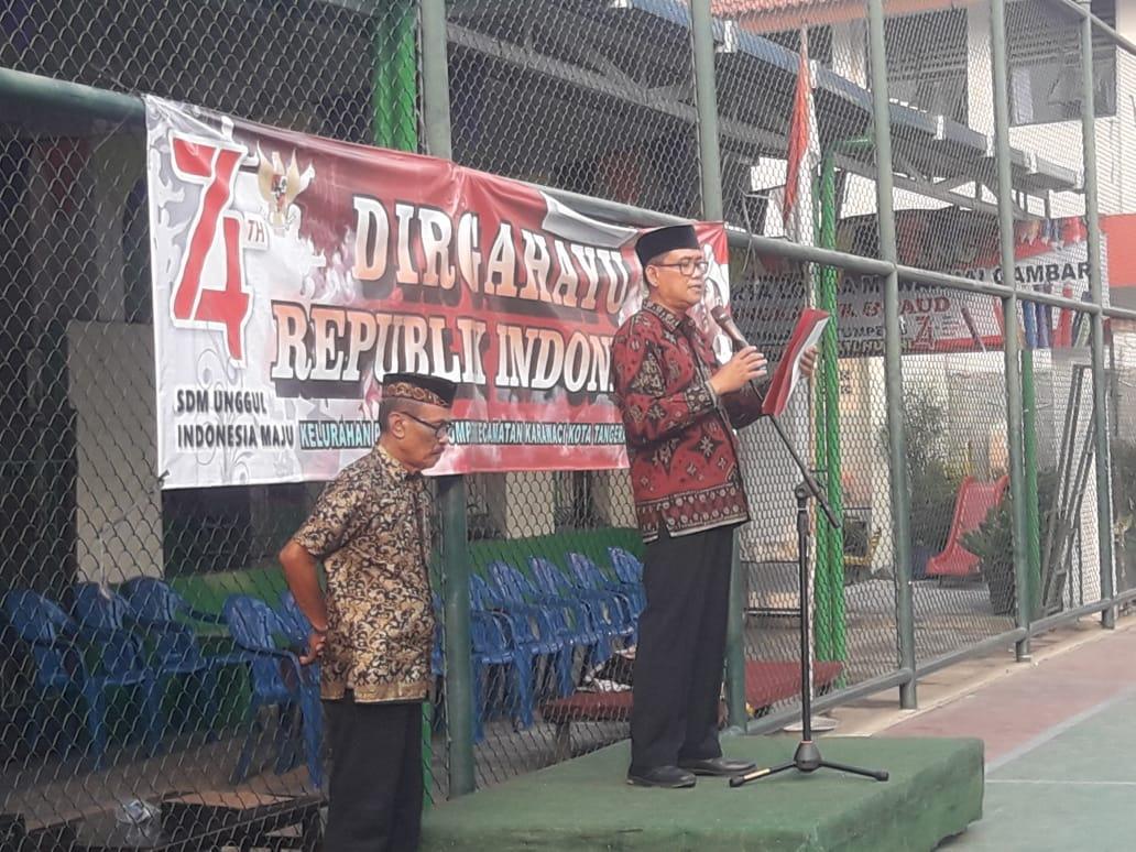 Peringati HUT RI Ke 74 LPM Kelurahan Pabuaran Tumpeng Gelar